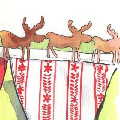 Learn To Make Very Tasteful(!) Christmas Bunting in Ballinderreen