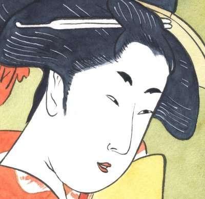 Utamaro_mirror_detail