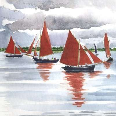 Cruinniú na mBád: Galway Hookers in Kinvara - Grace and Beauty in Blackberry and Oxblood