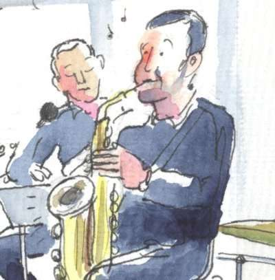 Sketching Jazz in Galway - Things Hot Up with the Cool Cats