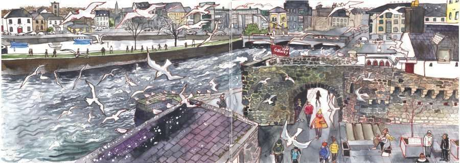 Introduction to Urban Sketching: Workshop in Galway 20th-22nd June 2019